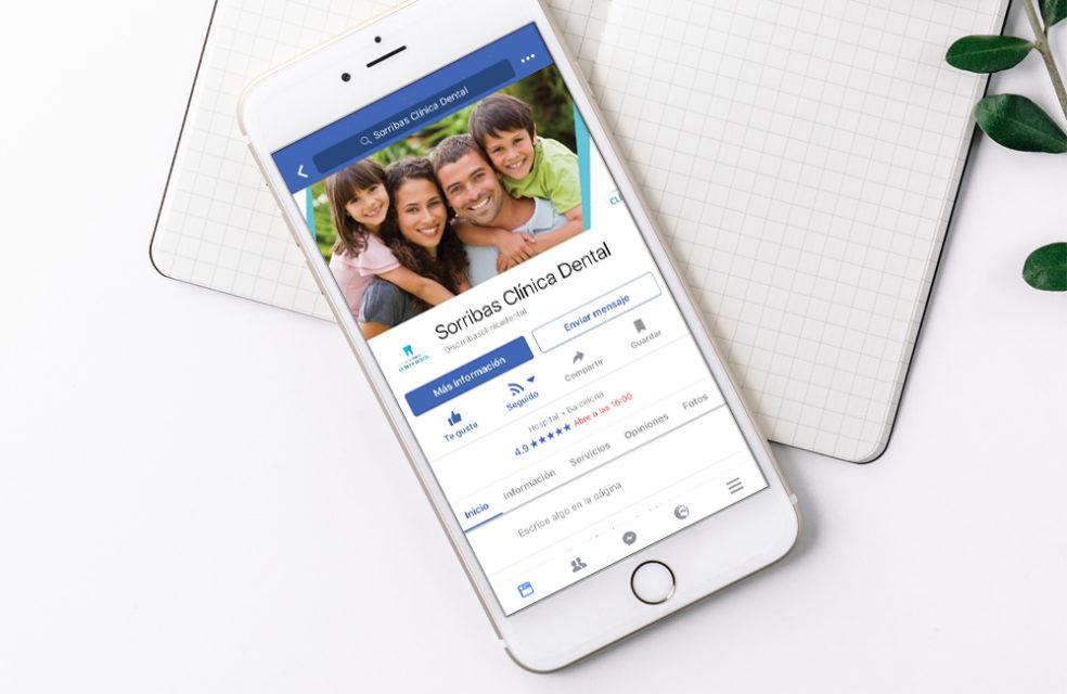 redes sociales sorribas clinica dental
