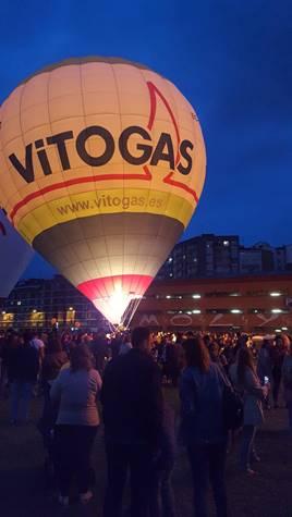El globus de Vitogas participa a la segona regata d'aeròstats de Gijón